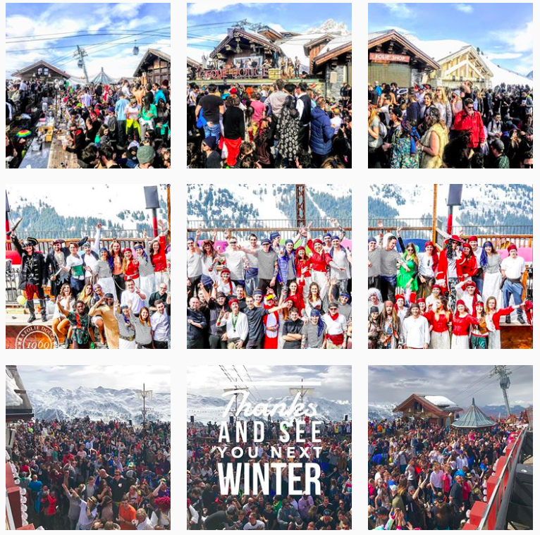 Folie Douce Meribel instagram
