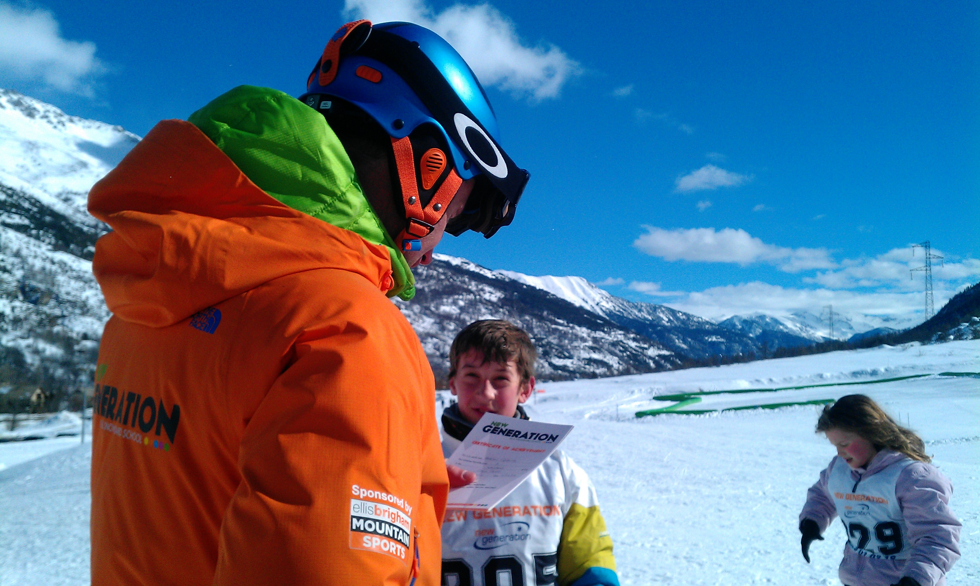 Certificates, badges and prizes from the BEST ski school