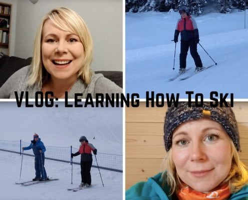 VLOG- Learning how to ski